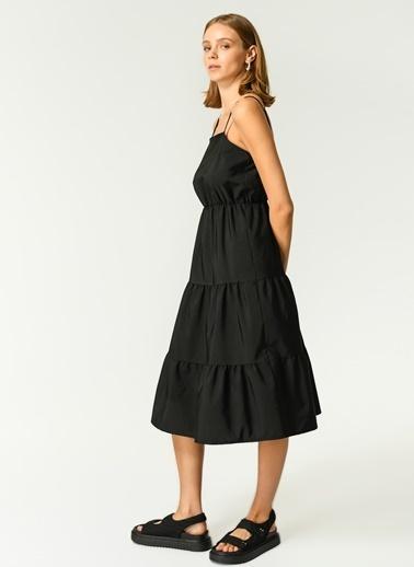 NGSTYLE Kadın Askılı  Elbise NGKSS21EL0054 Siyah